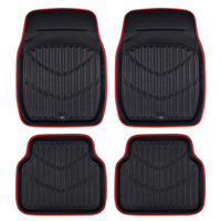 Car Pass New Arrival Universal Car Foot Mat For Auto Anti Slip Mat Red Black Car