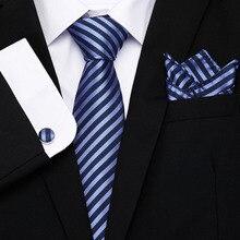 2019 New Fashion Mens Neck Tie Set Silk Necktie & Handkerchiefs Sets Plaid Paisley 8cm width Ties For Wedding Party