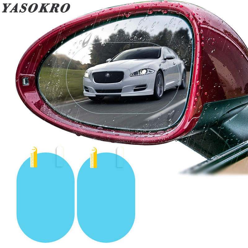 Car Rearview Mirror Protective Film Anti Fog Membrane Anti-glare Waterproof Rainproof Car Mirror Window Clear Film
