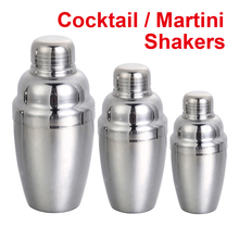 250 ml/350 ml/550 ml de Vino Barra de Herramientas de Acero Inoxidable Martini Shaker Mezclador Barware Coctelera Para Uso tanto Profesional como Doméstico