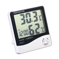 Цифровой термометр гигрометр крытый настольная Температура измеритель влажности Будильник Кухня офисные настенные метеостанции 100 шт.