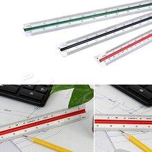 300mm 1:150 1:200 1:250 Triangular métrica escala regla para ingeniero Multicolor W15
