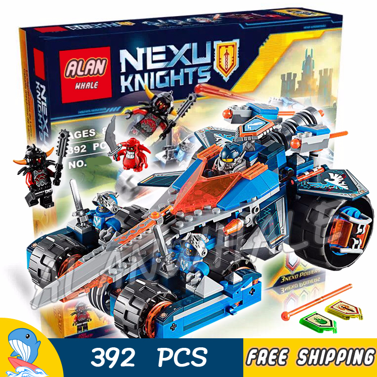 392pcs New Knights Clay's Rumble Blade Jestro Clay 10488 Figure Building Blocks Children Nexus Compatible With LegoING-in Blocks from Toys & Hobbies