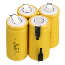 High quality battery ! 10 PCS yellow color Rechargeable Battery  hot sell Sub C SC 1.2 V 2200 mAh Ni-Cd