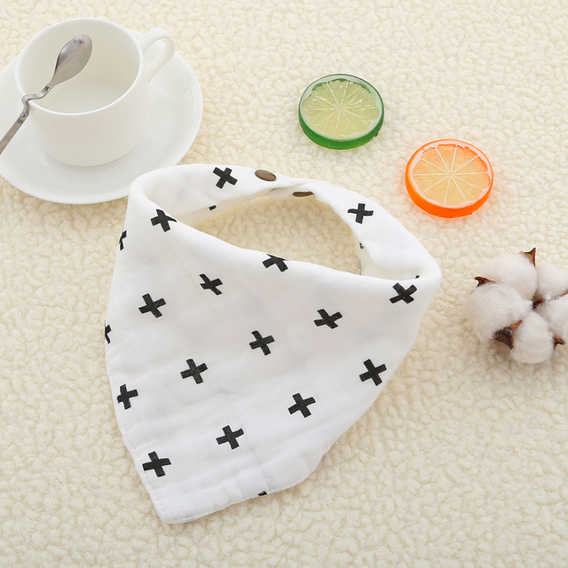 Infant Toddler Bib Baby Bandana Newborn Baby Bib Saliva Towel Bibs Burp Cloth Cotton Soft Muslin 4 Layers Feeding Apron Bavoir