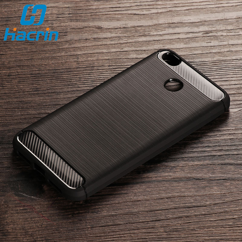 Xiaomi Redmi 4X Case Bumper Anti-knock Soft TPU Silicon Cover Carbon Fiber Armor Case Cover For Xiaomi Redmi 4X Pro
