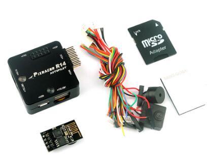 Contrôleur de vol Pixracer R14 F4 avec étui de protection CNC Module Wifi ESP8266 Micro carte SD Buzzer RC quadrirotor Transmission