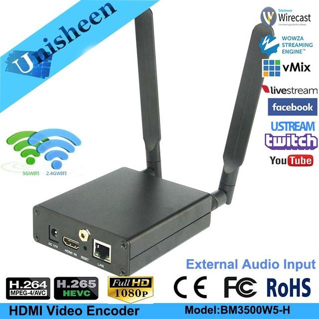 H.265 HEVC H.264 wifi HDMI Video Encoder Streaming encoder HDMI Transmitter live Broadcast encoder wireless OBS/vMix/Wirecast