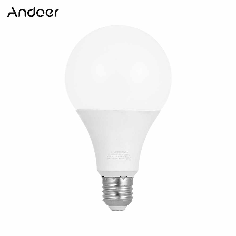 Andoer E27 30w Energy Saving Led Bulb Lamp 5500k Soft White