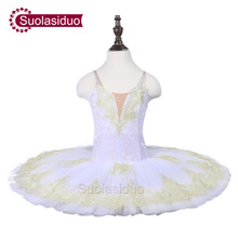 Girls  White Ballet Tutu The YAGP Performance Stage Wear Kids Classical Dance Competition Costumes Adult Apperal