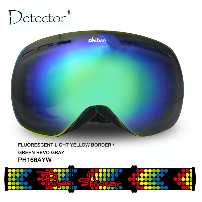 Detector Ski Goggles Men Women Snowboard Goggles Big Ski Mask Snow Glasses Skiing Double UV400 Anti-Fog