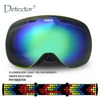 Detector Ski Goggles Men Women Snowboard Goggles Big Ski Mask Snow Glasses Skiing Double UV400 Anti Fog