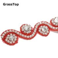 2017 New Hot Fix Rhinestone Applique Trim For Craft DIY Wedding Dress Banding Shoes Rhinestone Chain