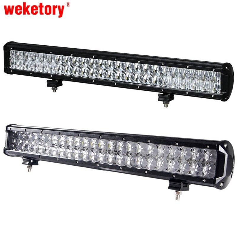 Weketory 4D 5D 20 pouce 210 W LED Travail Light Bar pour Tracteur bateau OffRoad 4WD 4x4 Camion SUV ATV Spot Flood Combo Faisceau 12 V 24 v