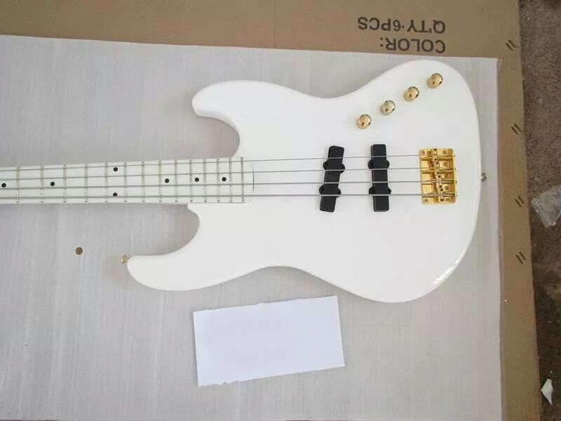 Electric Guitar/Anmiyue White Gold Hardware Exquisite High Quality Bass/China Electric Bass