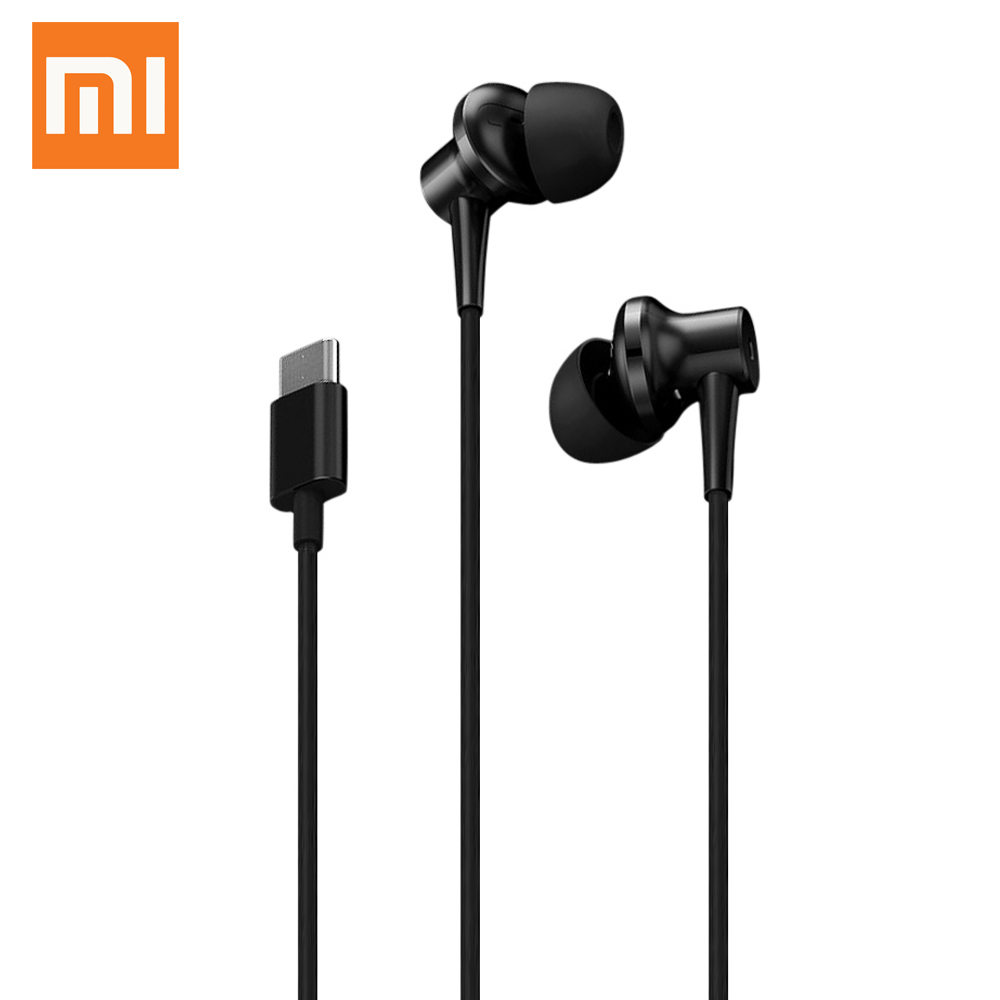Xiaomi ANC Hybrid Type-C Earphone Noise Cancellation In-Ear Earbuds With Microphone Support Line Control xiaomi miui 3 5mm stereo in ear earphone w microphone black