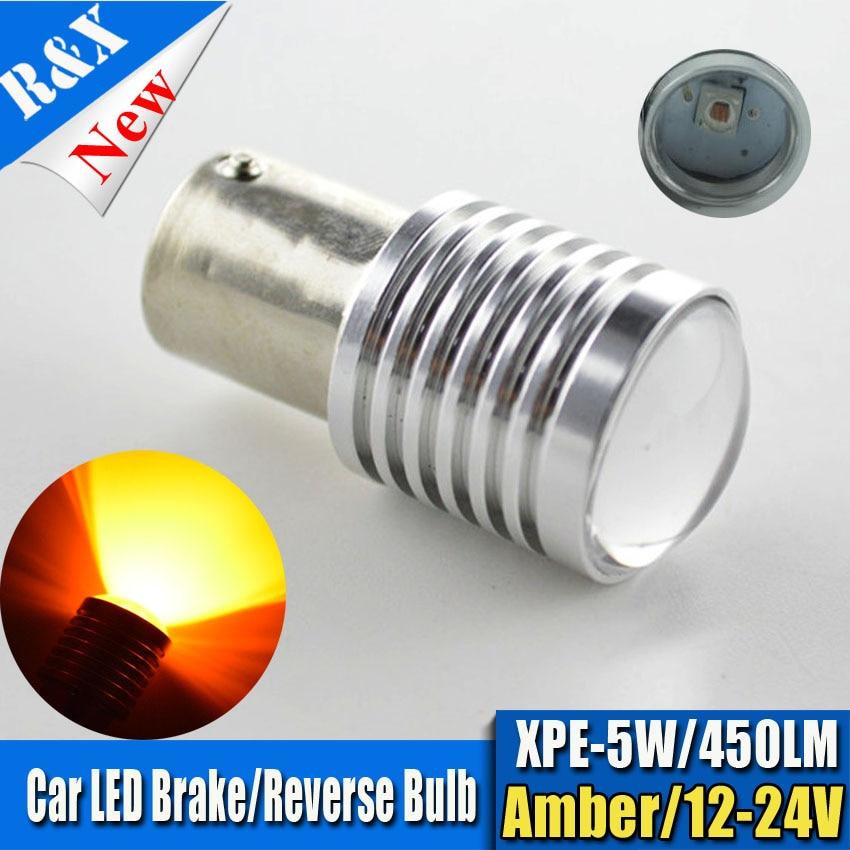 10X High Power 1156 BA15S BAU15S PY21W Option 5W 450LM P21W LED Bulb Amber Turn Signals Brake Backup Reverse Lights Fog Lamps