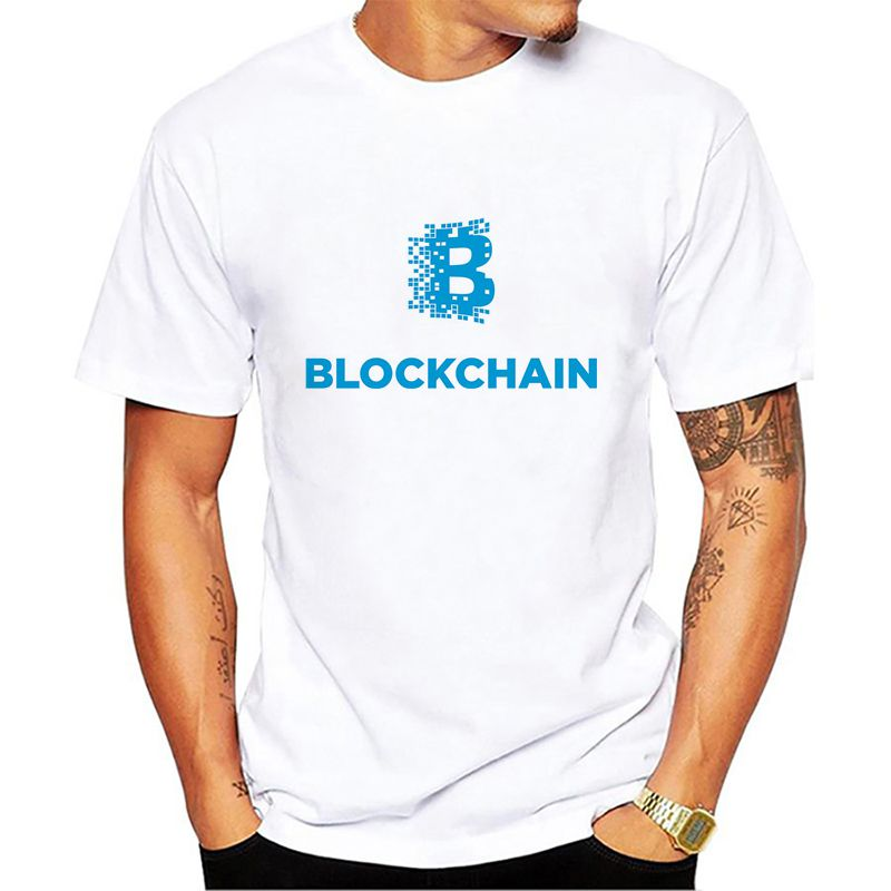 Cryptocurrency Blockchain T Shirt Men's Top Design Short Sleeve Fashion Custom  Couple T Shirts