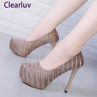 35 42 large size women's ultra high heels 12.5cm shoes simple high heels wedding party sexy women's shoes