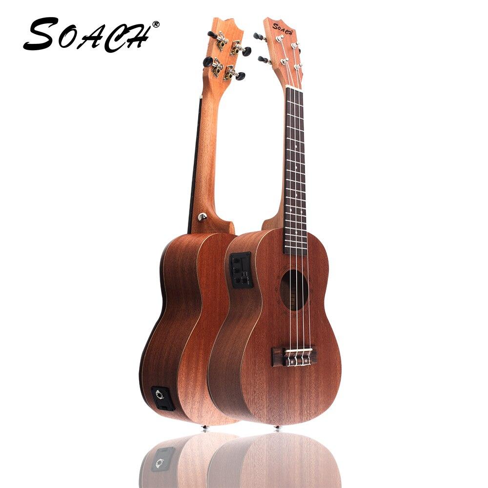 SOACH 21 pouces-23 pouces ukulélé Soprano main palissandre touche 4 cordes guitare acoustique débutant entrée étudiant mâle et femal