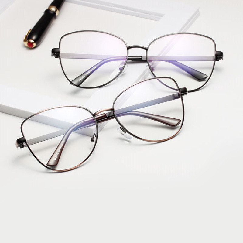 Cat's Eye Glasses Men's New Decorative Mirror Modi...
