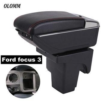 Armlehne Box Für Ford focus 3 mk3 zentralen Speicher inhalt mit USB Lade heighten Doppel schicht tasse halter aschenbecher zubehör