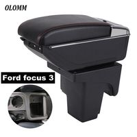 Armrest Box For Ford focus 3 mk3 central Store content with USB Charging heighten Double layer cup holder ashtray accessories