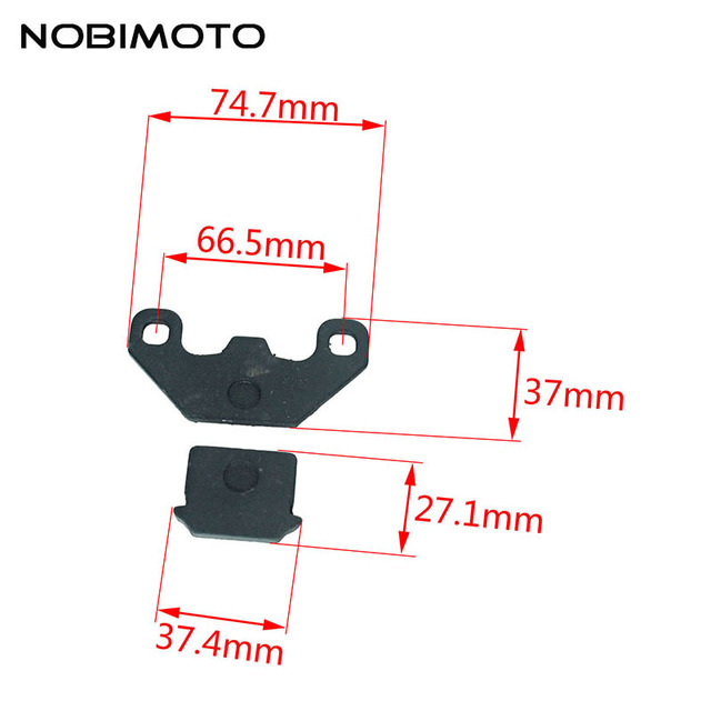 New Motrocycle Brake Shoe Sets DISC BRAKE SHOES SET PADS Brake Disks Brake Pad Pads For 50 70 90 110 125cc ATV DIRT BIKE DS-127