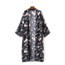 Full Sleeve Floral Long Kimono/Cardigan