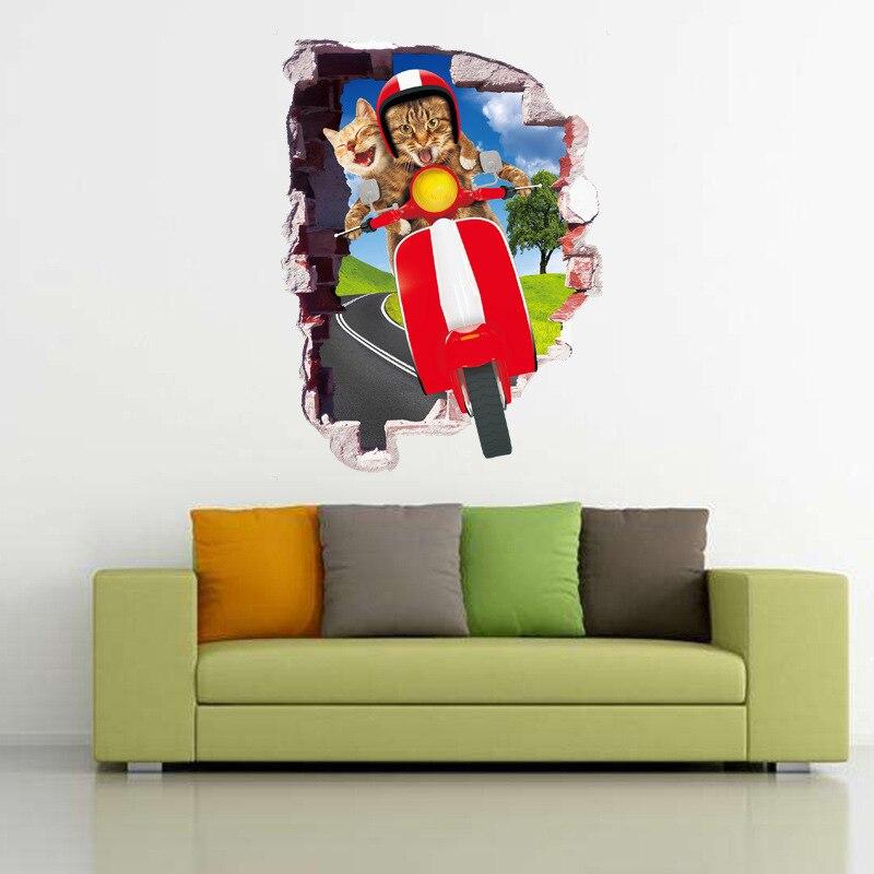 Cartoon rocket Children/'s Room Remove Wall stickers