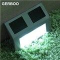GERBOO Super Bright Yard Lamp Solar Panel Garden Light 3 LED Lights Outdoor Home Decor Deft Design Garden Fence Solar Light