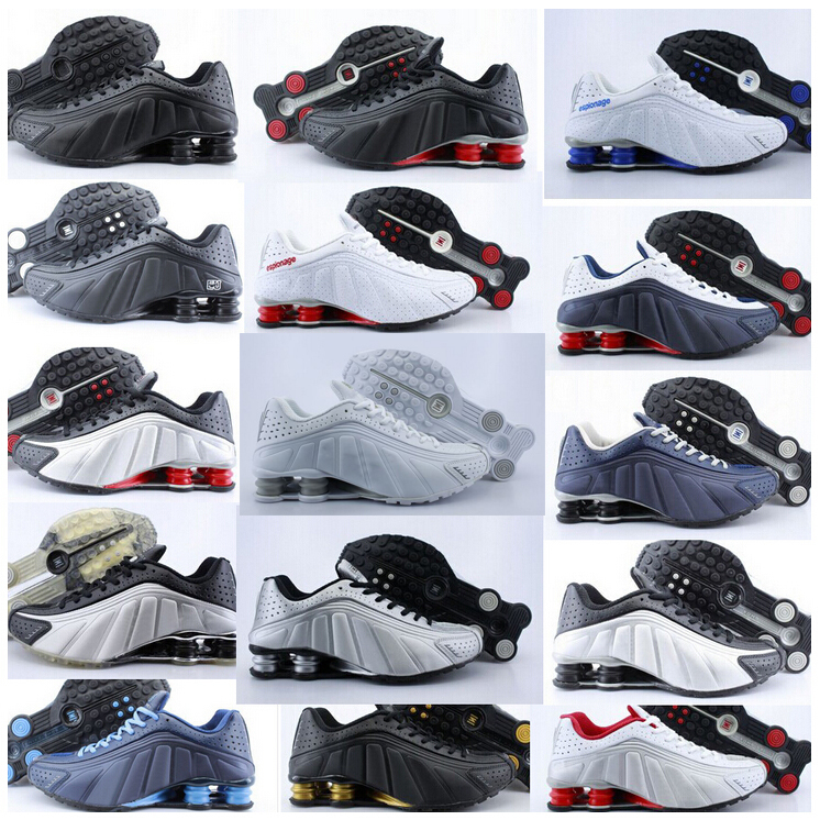546231cbc57 Hot sale Shox R4 chaussure homme sneakers men women sport shox running shoes  good quality free shipping Show R4 Shoes