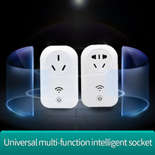 Universal socket electrical multi smart plug 3G WiFi Power Plug Socket remote controlled by mobile phone multi color intelligent household security robert controlled by smart phone