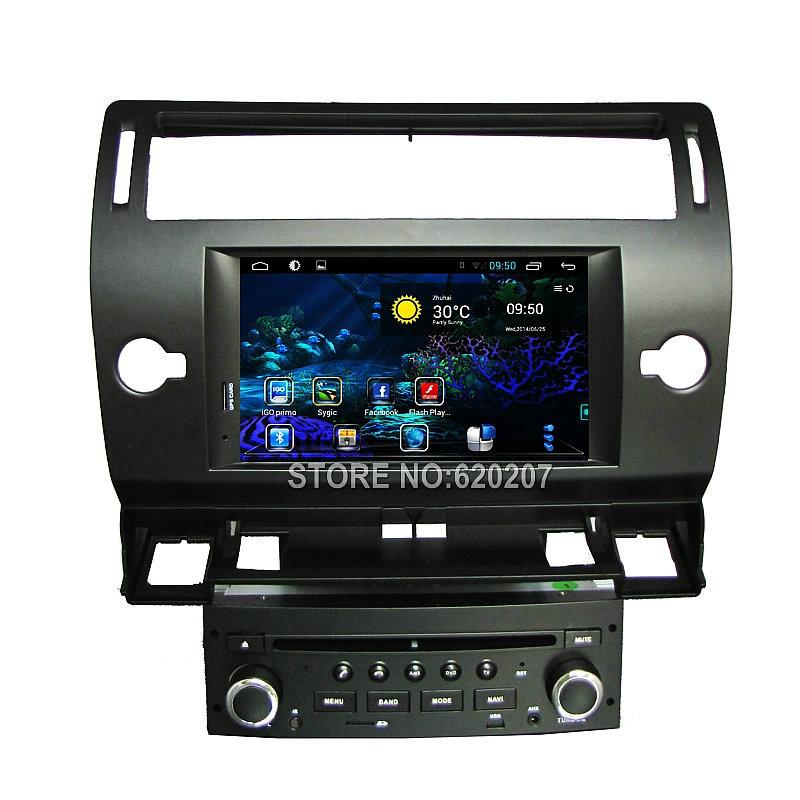 Quad Core Android 4 4 CAR DVD GPS player navigation FOR CITROEN C4 car audio car