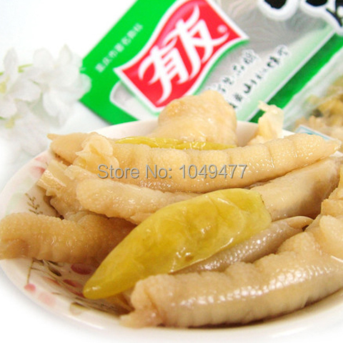 5 Pcs X 100g Chinese Food Chicken Feet With Pickled Peppers Vacuum