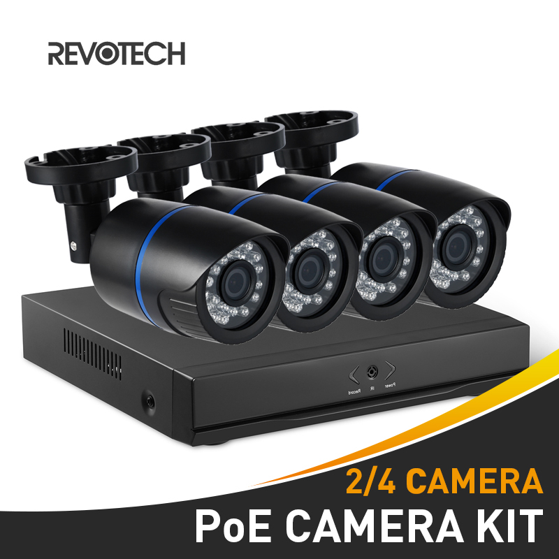 POE 2CH 4CH 1080P CCTV IP Camera System Kit HD 4 Channel NVR 2PCS 4PCS 1920x1080P