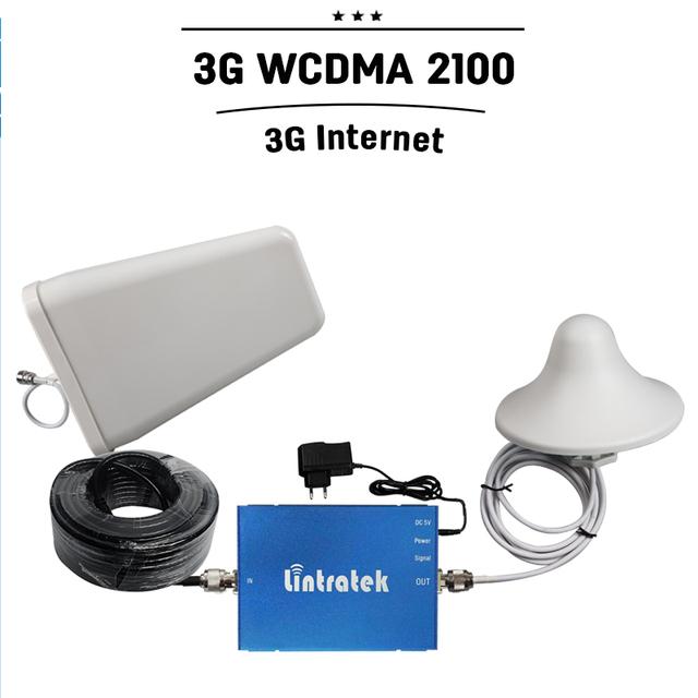 3G WCDMA 2100 mhz Señal Móvil de Refuerzo 2100 Celular Booster 65dB de Ganancia 3G 2100 Repetidor 2100 UMTS 3G Celular Amplificador de Antena
