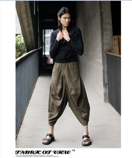 2016 tamanho Livre 4 cores Homens Meninos Frescos do Tornozelo-Comprimento das Calças Soltas 3D Índia Tailand Estilos Punk Popular estilos de Calças Largas