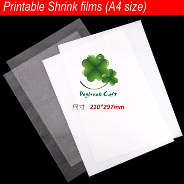 graphic relating to Printable Shrink Plastic called US $11.52 52% OFF(pack of 7) A4 sizing Shrinks motion picture Plastic Sheet Do it yourself decorating printable shrink plastic sheet-inside of Craft Paper towards Property Backyard garden upon