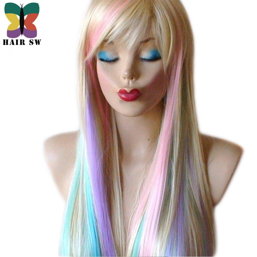 HAIR SW Long Straight Synthetic Hair Fairy prinsessa peruk - Syntetiskt hår - Foto 4