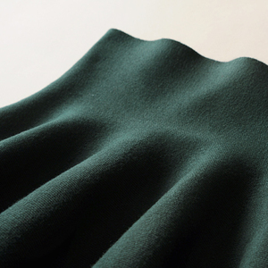 Image 5 - 2019 new Womens Korean Version Pleated Skirt  Umbrella Skirt High Waist Bottom Knitted Skirt Autumn A line Skirt
