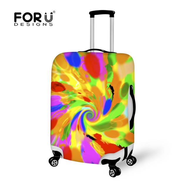 Graffiti tampas de proteção de bagagem Elastic estiramento tampa mala para 18 20 22 24 26 28 30 polegada Trunk caso bagagem acessórios