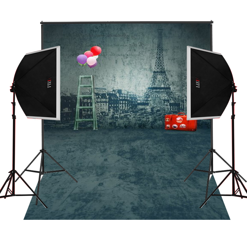 Iron red suitcase scenic for kids photos camera fotografica studio vinyl photography background backdrop cloth digital props