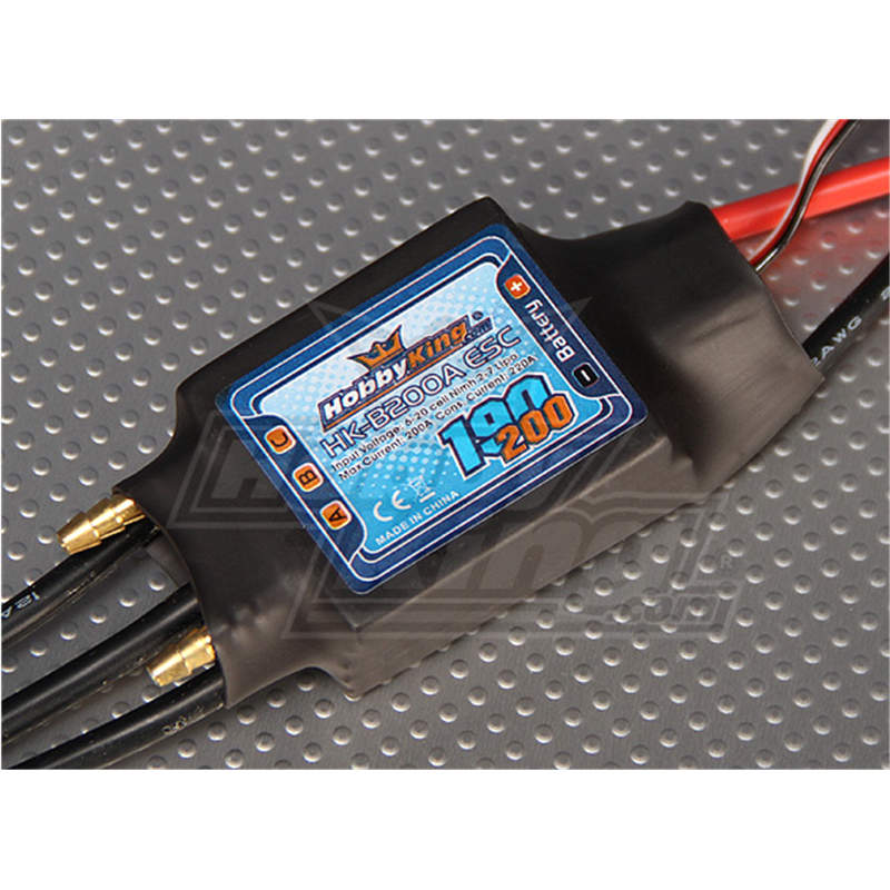 RC boat HK B200A ESC 200A 2 7S waterproof electronic speed controller with water cooling one