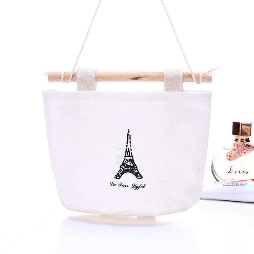 Органайзер прикроватный из хлопка и льна, боковая подвесная сумка для хранения вещей, сумка для спальни