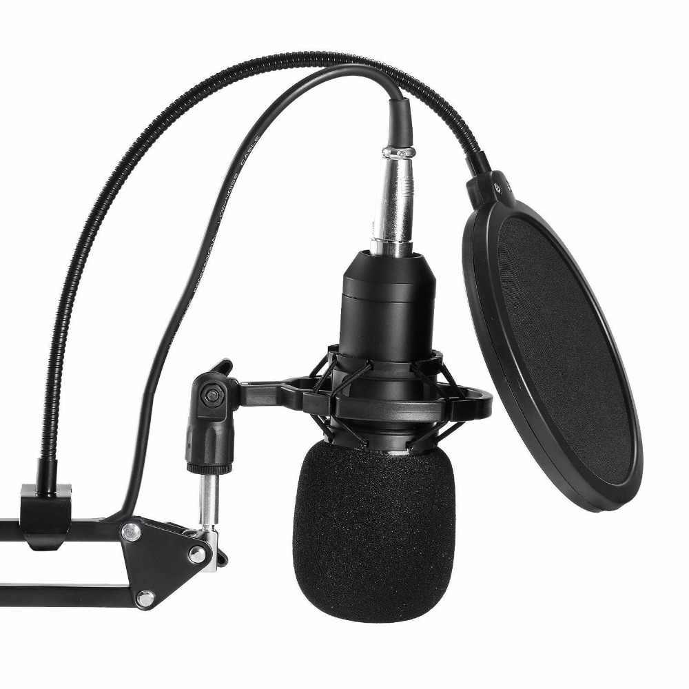 Professional คอนเดนเซอร์เสียง 3.5 มม.BM800 Studio ไมโครโฟนบันทึกเสียง KTV คาราโอเกะไมโครโฟน MIC W/Stand สำหรับคอมพิวเตอร์