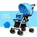 NOVO 8 cores Do Bebê Do carrinho de criança alta mentir paisagem portátil e dobrável suspensão duas crianças carrinho de bebê de quatro rodas