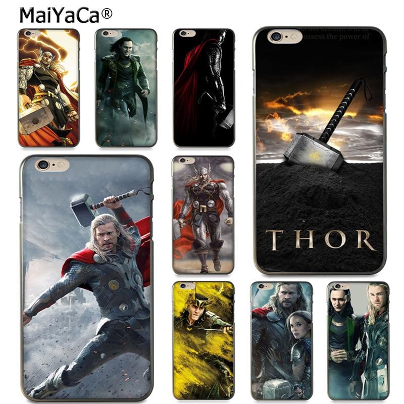MaiYaCa Loki Thor Cute black soft tpu Phone Accessories Case for iPhone