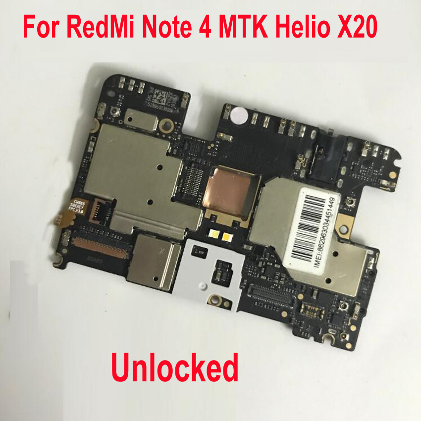 Original Unlock Global FirmWare Mainboard For Xiaomi Redmi Note4 Hongmi NOTE 4 Motherboard Circuit Fee Main Board Flex CableOriginal Unlock Global FirmWare Mainboard For Xiaomi Redmi Note4 Hongmi NOTE 4 Motherboard Circuit Fee Main Board Flex Cable