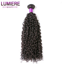 Lumiere Hair Malaysian Kinky Curly Weave Human Hair Bundles 1 Piece 10″-28″ Non Remy Hair Extensions Free Shipping